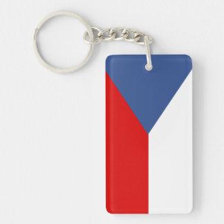 czech republic country long flag nation symbol key ring