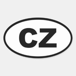 Czech Republic - CZ - European Oval Sticker