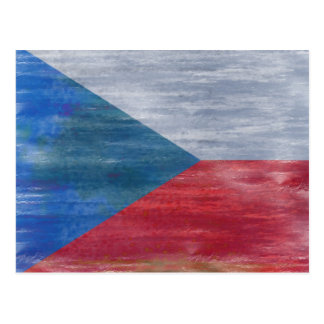 Czech Republic distressed flag Postcard