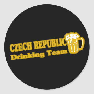 Czech Republic Drinking Team Classic Round Sticker