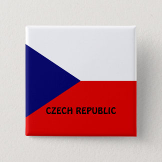 Czech Republic flag 15 Cm Square Badge