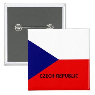 Czech Republic flag 15 Cm Square Badge