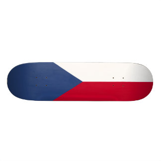 Czech Republic Flag 21.3 Cm Mini Skateboard Deck