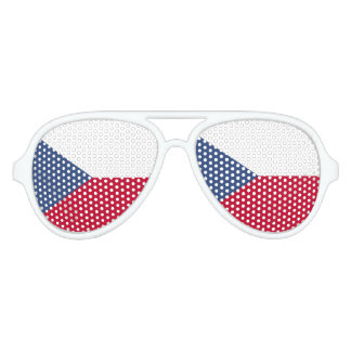 Czech Republic Flag Aviator Sunglasses