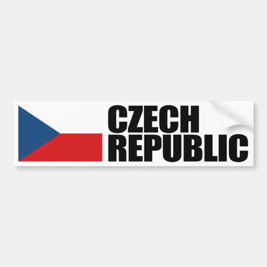 Czech Republic Flag Bumper Sticker