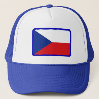Czech Republic flag embroidered effect hat
