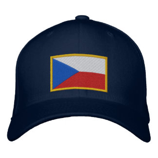 Czech Republic Flag Embroidered Hat