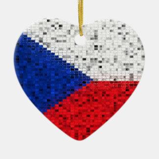 Czech Republic Flag glitter ornament