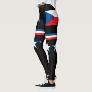 Czech Republic Flag Leggings
