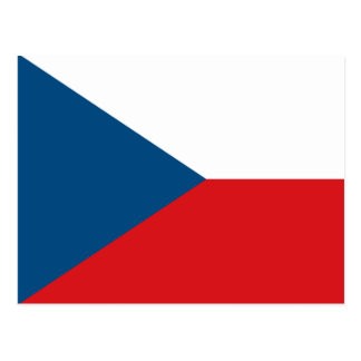 Czech Republic Flag Postcard