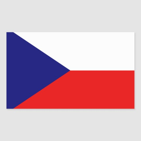 Czech Republic flag Rectangular Sticker