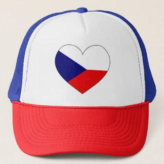 Czech Republic Flag Simple Trucker Hat