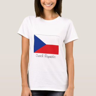 Czech Republic flag souvenir tshirt