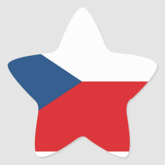 Czech Republic Flag Star Sticker