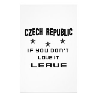 Czech Republic If you don't love it, Leave Customised Stationery