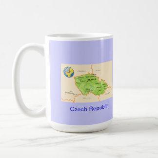 Czech Republic map & flag Coffee Mugs