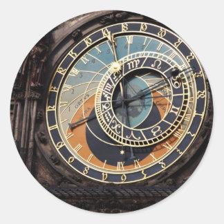 Czech Republic: Prague Astronomical Clock Classic Round Sticker