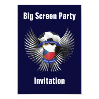 Czech Republic Soccer Champions 13 Cm X 18 Cm Invitation Card