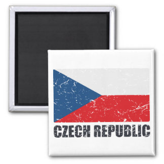 Czech Republic Vintage Flag Refrigerator Magnets