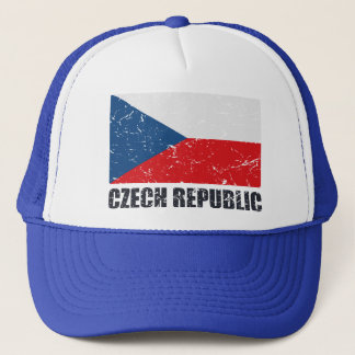 Czech Republic Vintage Flag Trucker Hat