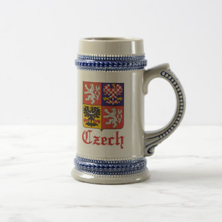 Czech Seal / Czechoslovakia Flag Beer Stein Mug