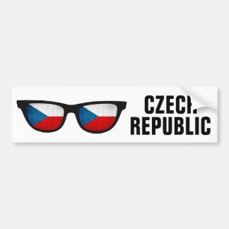 Czech Shades custom text & color bumpersticker Bumper Sticker