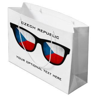 Czech Shades custom text & color gift bag