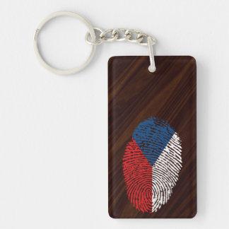 Czech touch fingerprint flag key ring