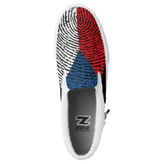 Czech touch fingerprint flag Slip-On shoes