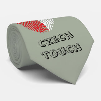 Czech touch fingerprint flag tie