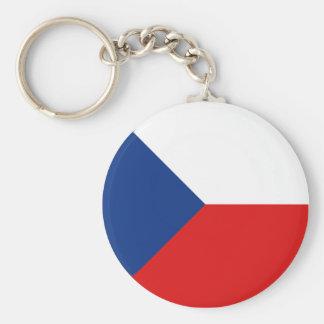 Czechia Fisheye Flag Keychain