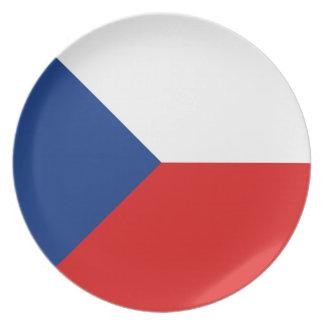 Czechia Fisheye Flag Plate