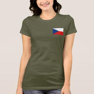 Czechia Flag and Map dk T-Shirt