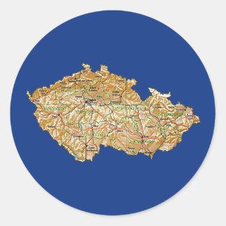 Czechia Map Sticker