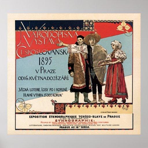 Czechoslav ethnographic exposition vintage ad