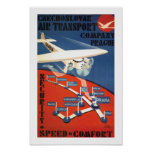 Czechoslovak Air Transport Poster