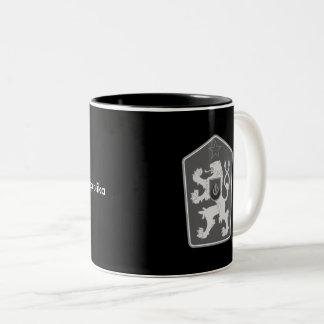 Czechoslovakia - Československá republika Mug. Two-Tone Coffee Mug