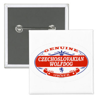 Czechoslovakian Wolfdog Button