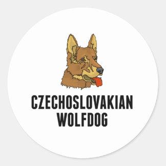 Czechoslovakian Wolfdog Round Stickers