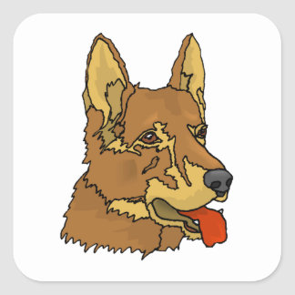 Czechoslovakian Wolfdog Square Sticker