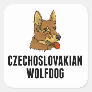 Czechoslovakian Wolfdog Square Stickers