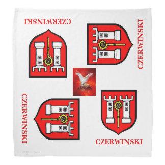CZERWINSKI FAMILY CREST WITH POLISH EAGLE KERCHIEFS