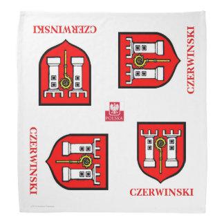 CZERWINSKI FAMILY CREST WITH POLISH FLAG BANDANAS