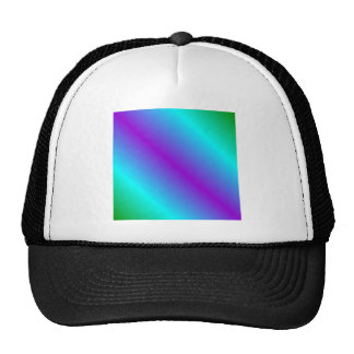 D1 Bi-Linear Gradient - Green, Cyan, Violet Hats