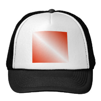 D1 Bi-Linear Gradient - Red and White Trucker Hat