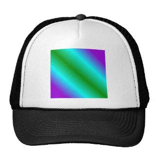 D1 Bi-Linear Gradient - Violet, Cyan, Green Hat