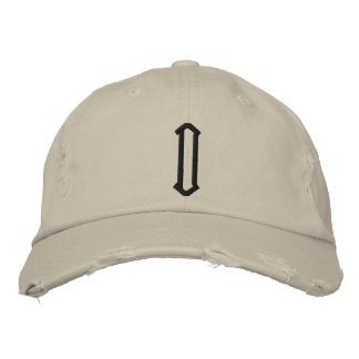 D1 Distressed Cap Embroidered Hat