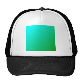 D1 Linear Gradient - Cyan to Green Hats