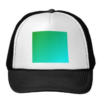 D1 Linear Gradient - Green to Cyan Trucker Hats