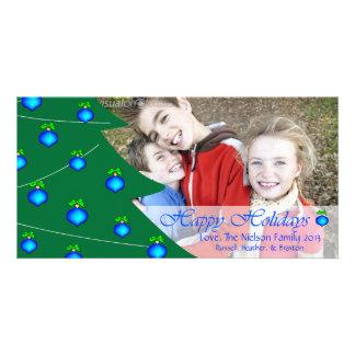 D1 Tree Decor HH-Blue Holidays Photo Cards